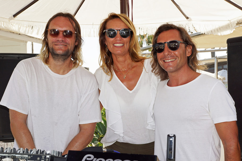 Puro Beach manager Melanie with guest DJ Till con Sein and resident DJ @deepnuhouse