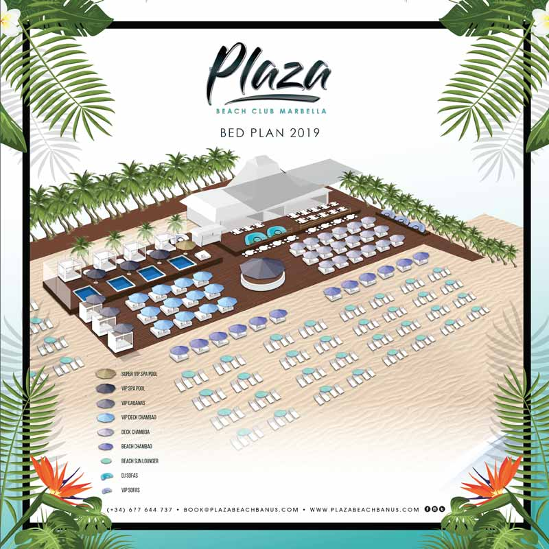 Plaza Beach Bedplan