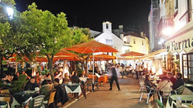 Marbella old town by night